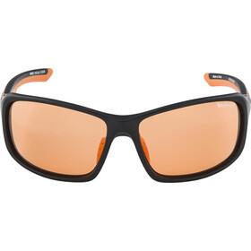 Alpina Lyron VL Occhiali, black matt-orange